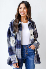 Navy - Plaid Shacket from Dress Up