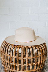 Ivory - Wide Brim Fedora Hat from Dress Up