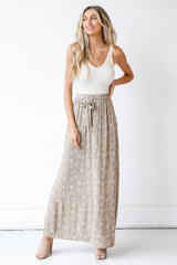 Floral Maxi Skirt Front View