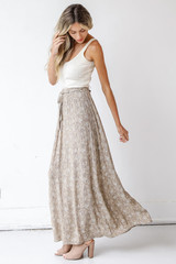 Floral Maxi Skirt Side View