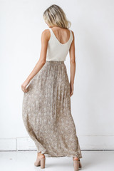 Floral Maxi Skirt Back View