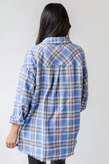 Flannel in Blue Back View