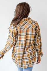Flannel in Mustard Back View