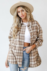Plaid Shacket Front View