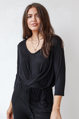 Black - Jersey Jumpsuit from Dress Up