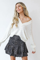 Black - Spotted Mini Skirt from Dress Up