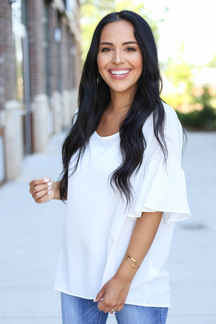 Ivory - Bell Sleeve Blouse