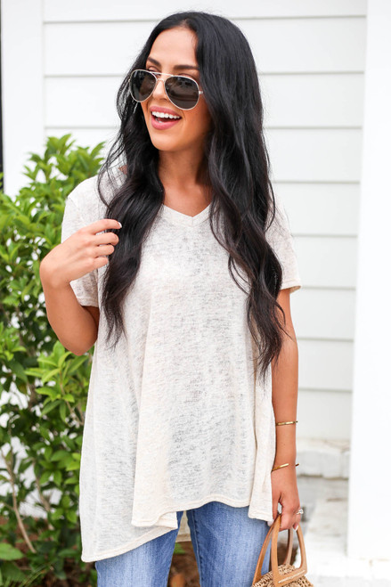 Ivory - Lightweight Knit Top