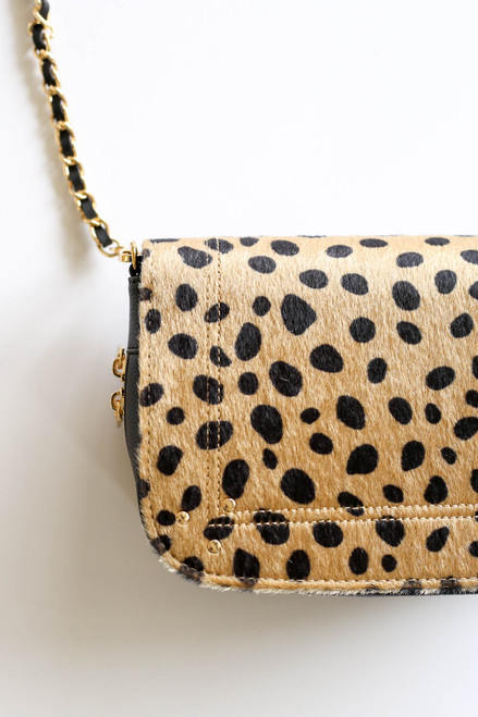 Leopard - Cheetah Print Crossbody Bag Detail View