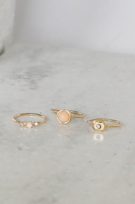 Gold - Assorted Ring Set Flat Lay