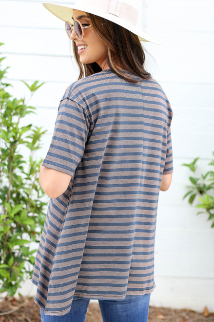 Kate Striped Oversized Tee