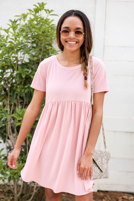 Blush - Babydoll Mini Dress