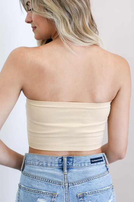 Nude - Strapless Basic Bandeau Back View
