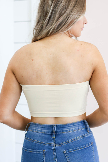 Nude - Padded Strapless Bandeau Back View