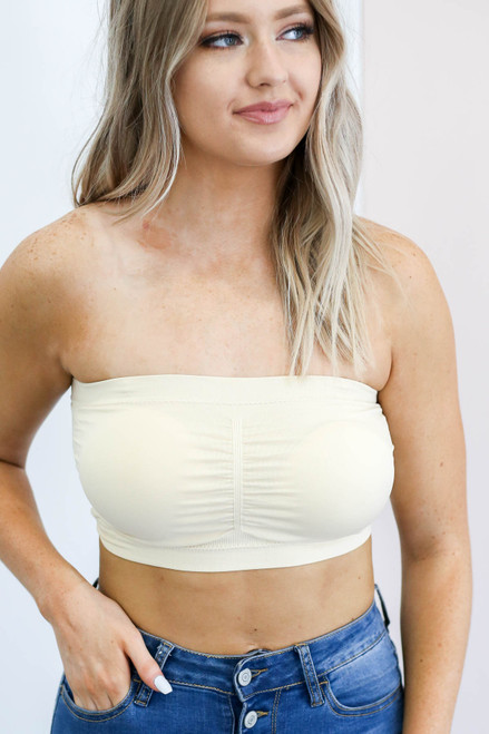 Nude - Padded Strapless Bandeau
