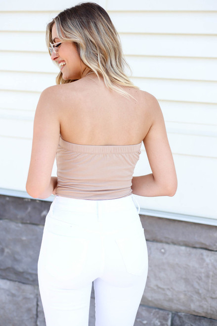 Nude - Basic Strapless Bodysuit Back View