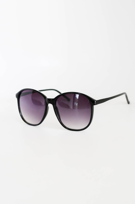 Black - Large Sunglasses Side View