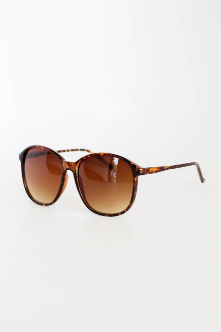 Tortoise - Oversized Sunglasses Side View