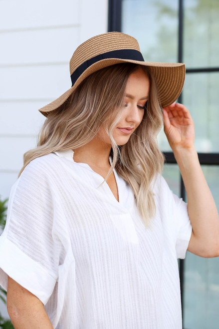 Natural - Straw Floppy Sun Hat