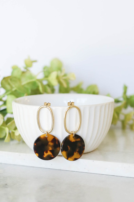 Tortoise - Drop Earrings on Bowl