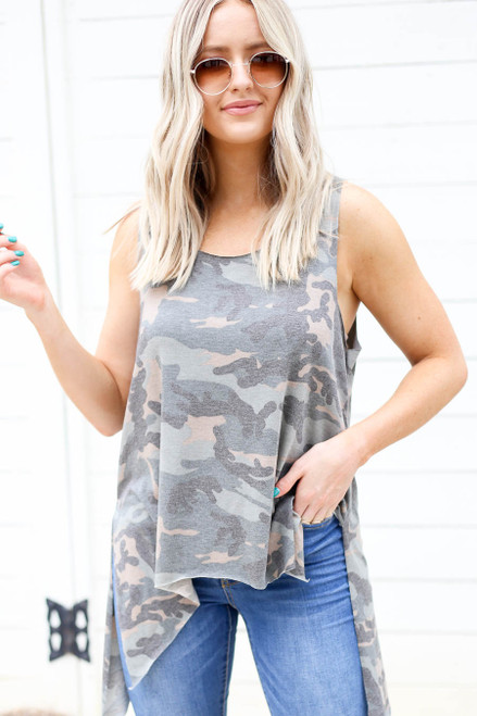 Camo - Tapered Tank Top