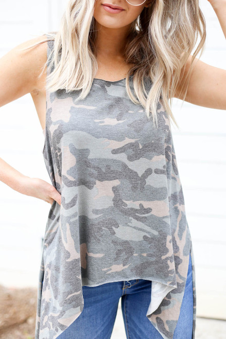 Camo - Tapered Tank Top Detail View
