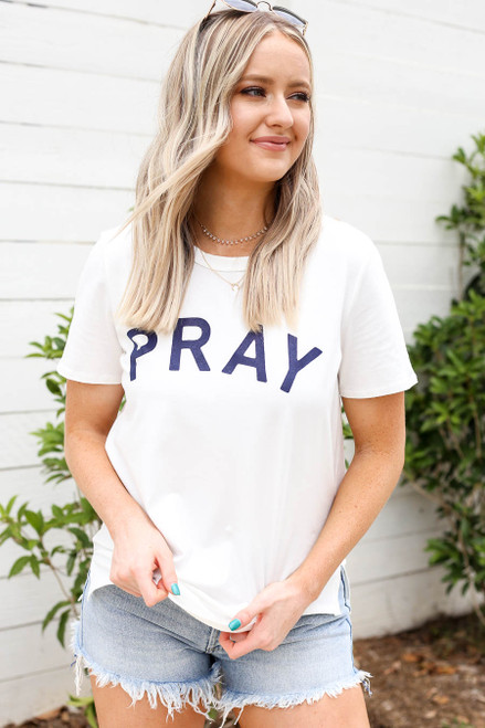 Ivory - Pray Graphic Tee