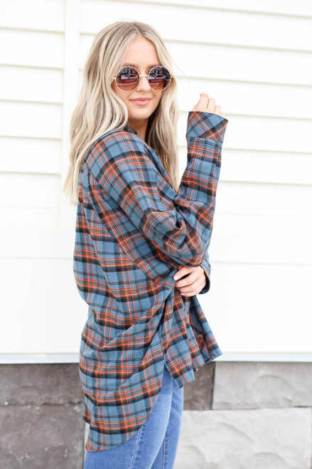 Green - Plaid Flannel Side View