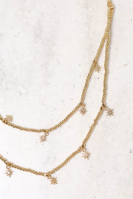 Gold - Beaded Star Necklace