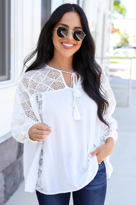 White - Crochet Blouse