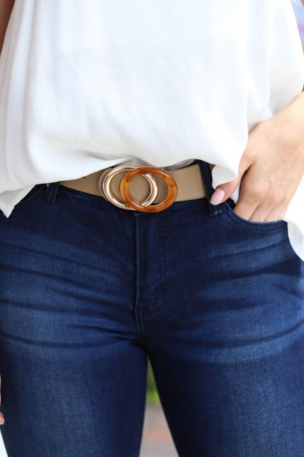 Taupe - Double O-Ring Belt