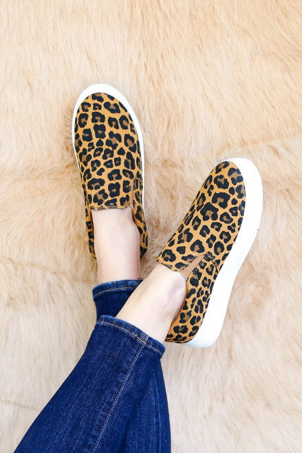 Leopard - Platform Slip on Sneakers on Model