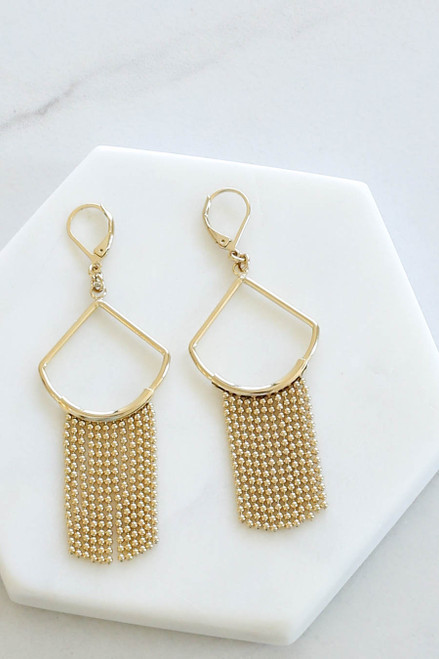 Gold - Statement Earrings Flat Lay
