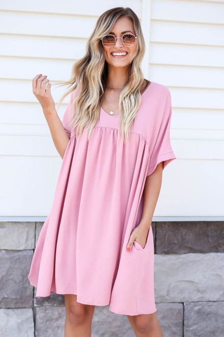 Mauve - Babydoll Dress