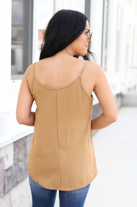 Khaki - Chiffon Basic Cami Back View