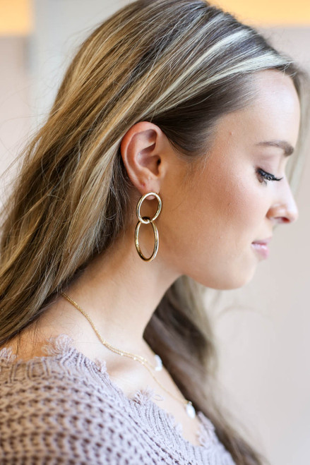 Gold - Interlocked Earrings