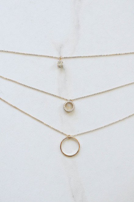 Gold - Circle Acrylic Hoop Earrings Flat Lay