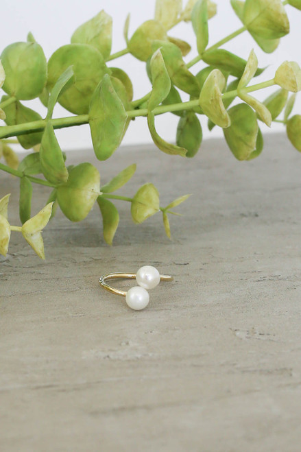 Gold - Stacked Pearl Ring