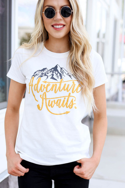 Ivory - Adventure Awaits Graphic Tee