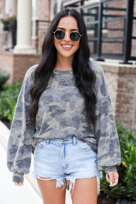 Camo - Soft Knit Top