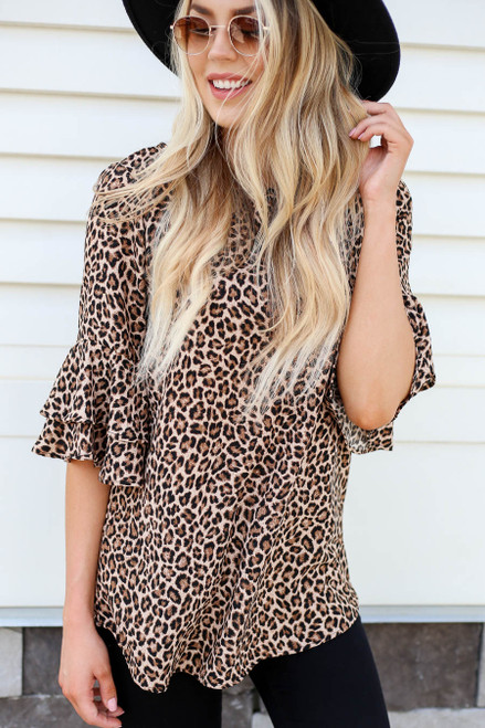 Eli Tiered Sleeve Blouse Front