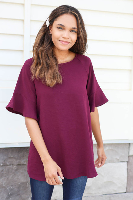 Rosie Ruffle Sleeve Blouse Front