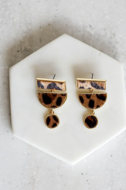 Leopard - Geometric Earrings
