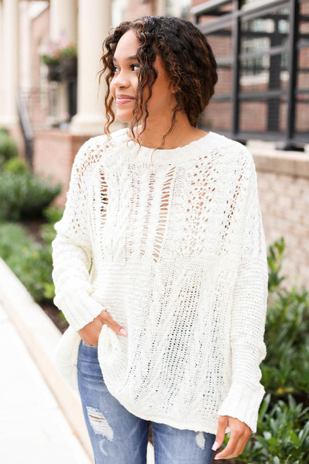 Ivory - Open Knit Sweater