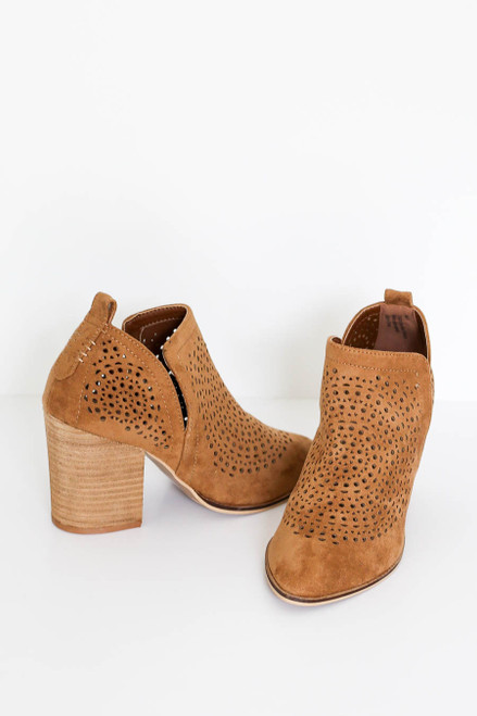 Camel Laser Cut Side Cut Booties  Product photo
