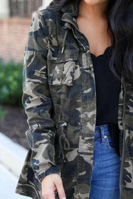 Camo - Cargo Jacket Detail View