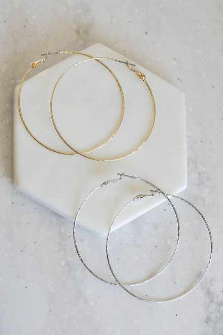 Silver and gold Annabelle Twisted Hoops