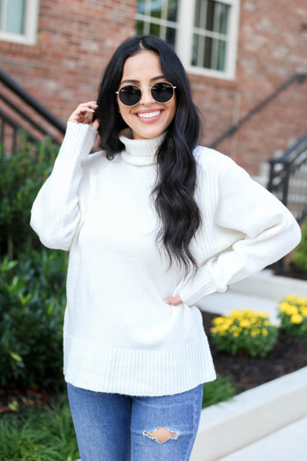 Ivory - Turtleneck Sweater