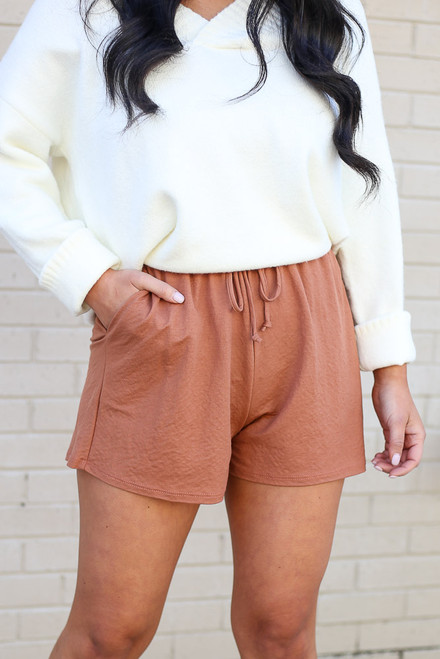 Rust - Pocketed Shorts Full View