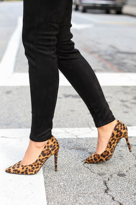 Leopard - Pointed Toe Pumps